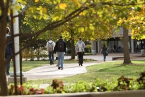 Students walking to class.