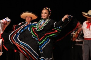 A student celebrates Hispanic Heritage Month.