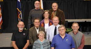 Pictured, from left, are staff members who retired in 2012. Row 1: Susan Hewitt, Richard Wollard; row 2: Cordell Van Eck, Gary Perkins, James Taylor, Kenneth Boatright; row 3: Vickie Younger; row 4: Richard Johnson, Dale Moore.