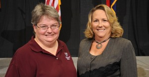 Pictured, from left, are Anne Baker and Tina McManus.