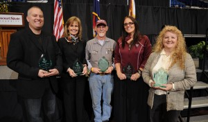 Pictured, from left, are Darren Wienberg, Sheryl Ruff-Hensley, Dennis Erfling, Tamara Reed and Deana Gibson.