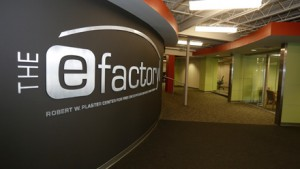 eFactory welcome sign