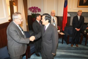 Hickey meeting Tawianese President