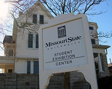 Student Exhibition Center sign