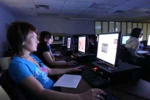 technology computer lab students design