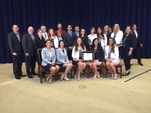 The ad team posing with their award from competition.