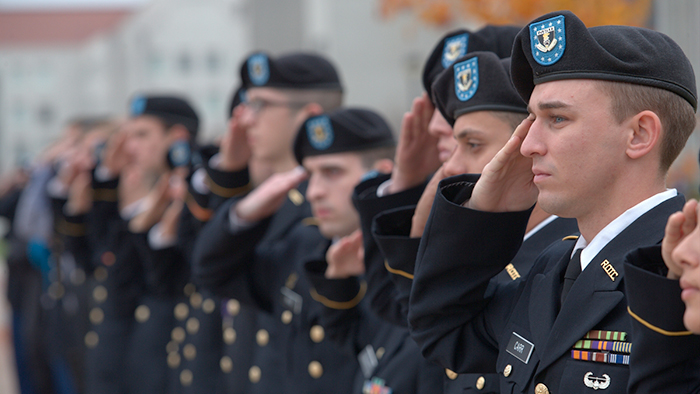 Salute during Taps