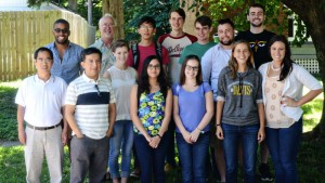 A photo of a recent group of REU students.