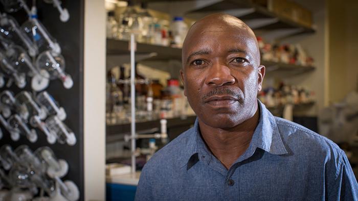 Dr. Wanekaya in his lab.