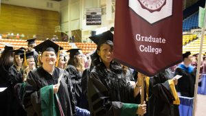 Graduate College students at commencement