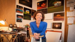 Sarah Williams in her art studio