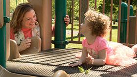 Brigden with little girl