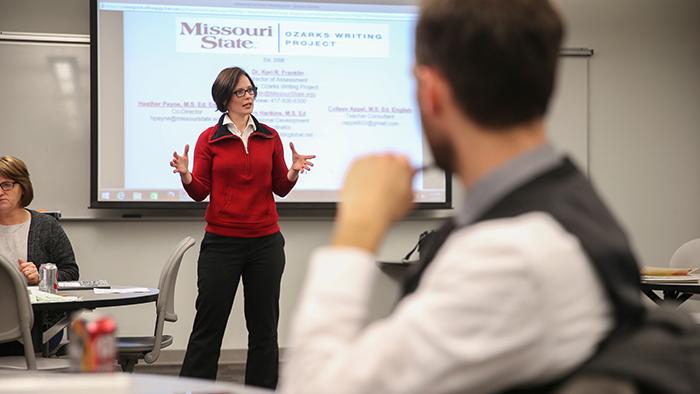Dr. Keri Franklin speaking