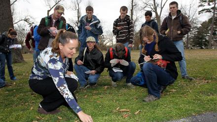Students identify plants
