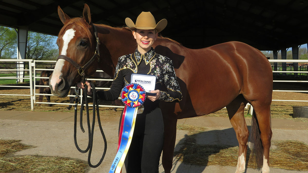 Dani Picard with her horse