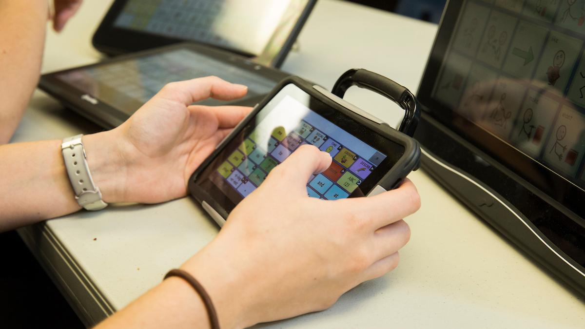 Client using ipad