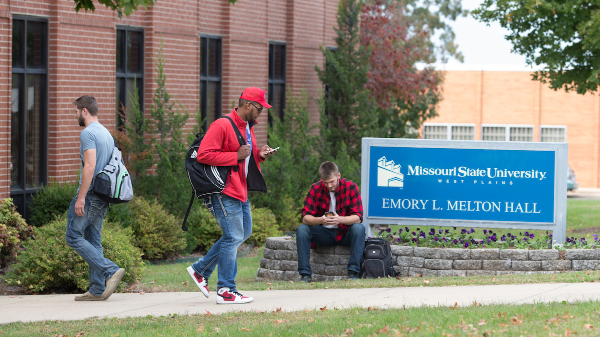 Students walking in West Plains