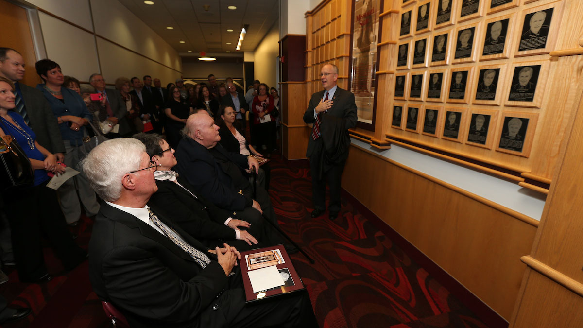 Wall of Fame ceremony