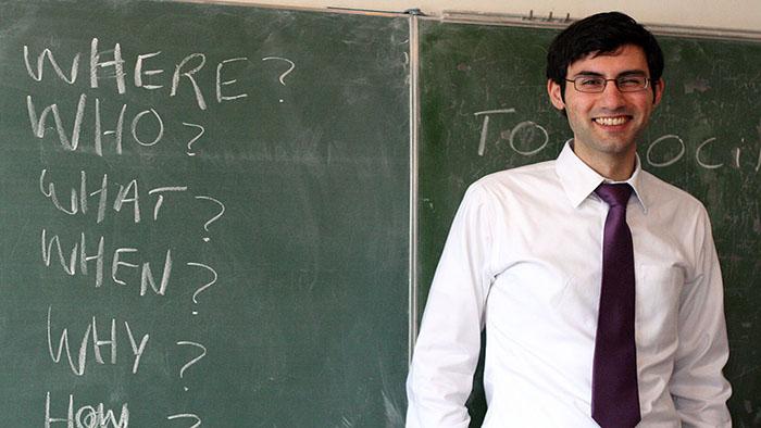 A male teacher
