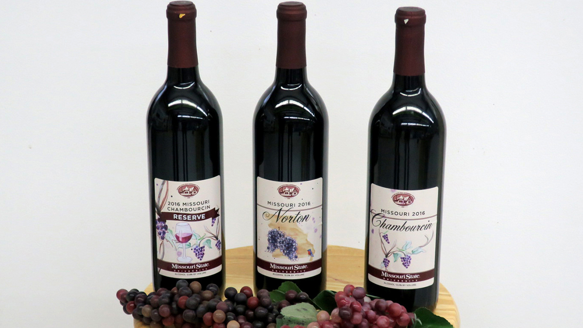 Three of the award-winning wines