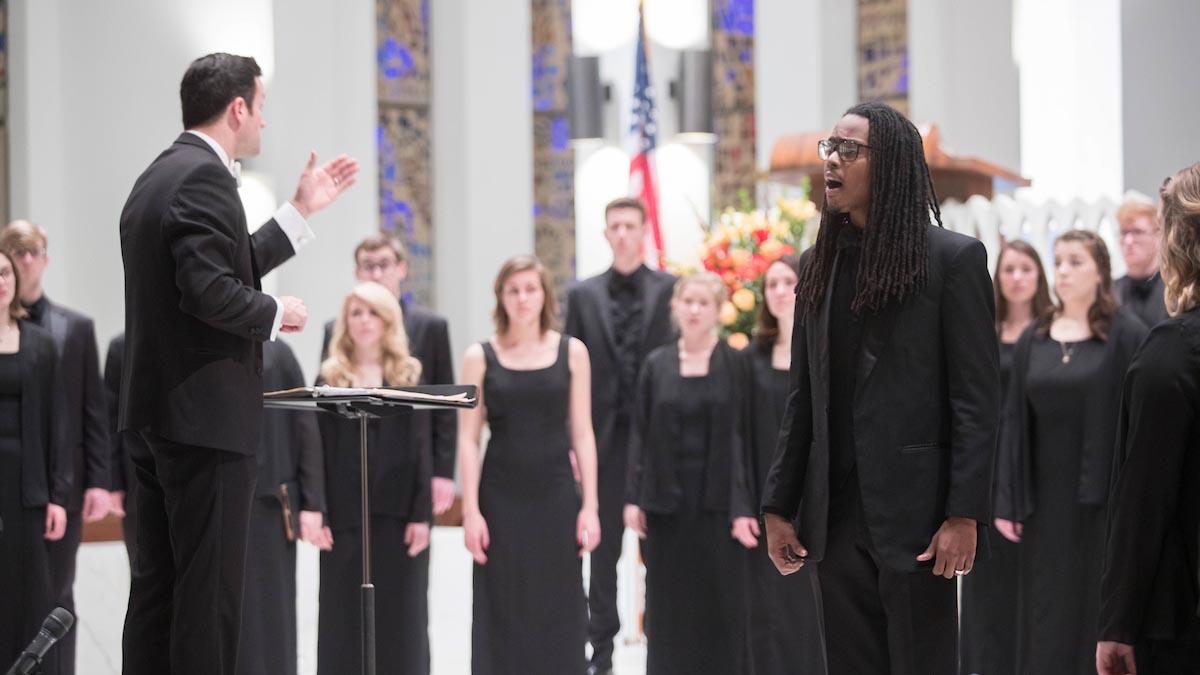 Labarr conducts Chorale in Washington DC