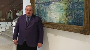 Hunt Slonem paintings on display at Missouri State