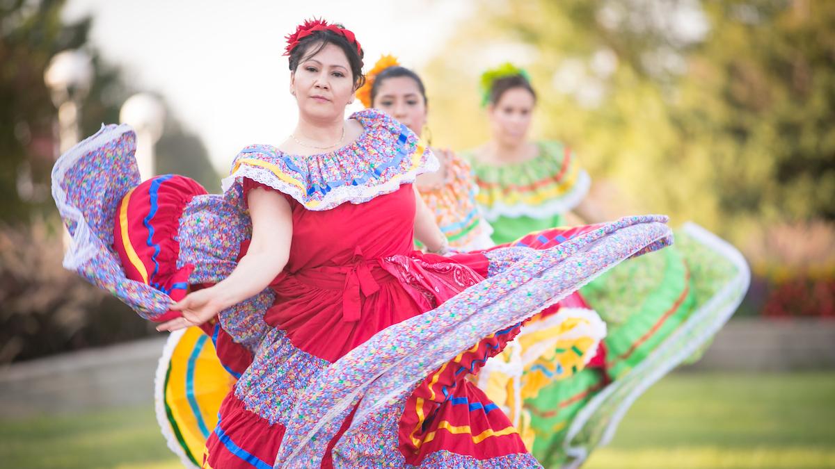 A Latinx dancer performs