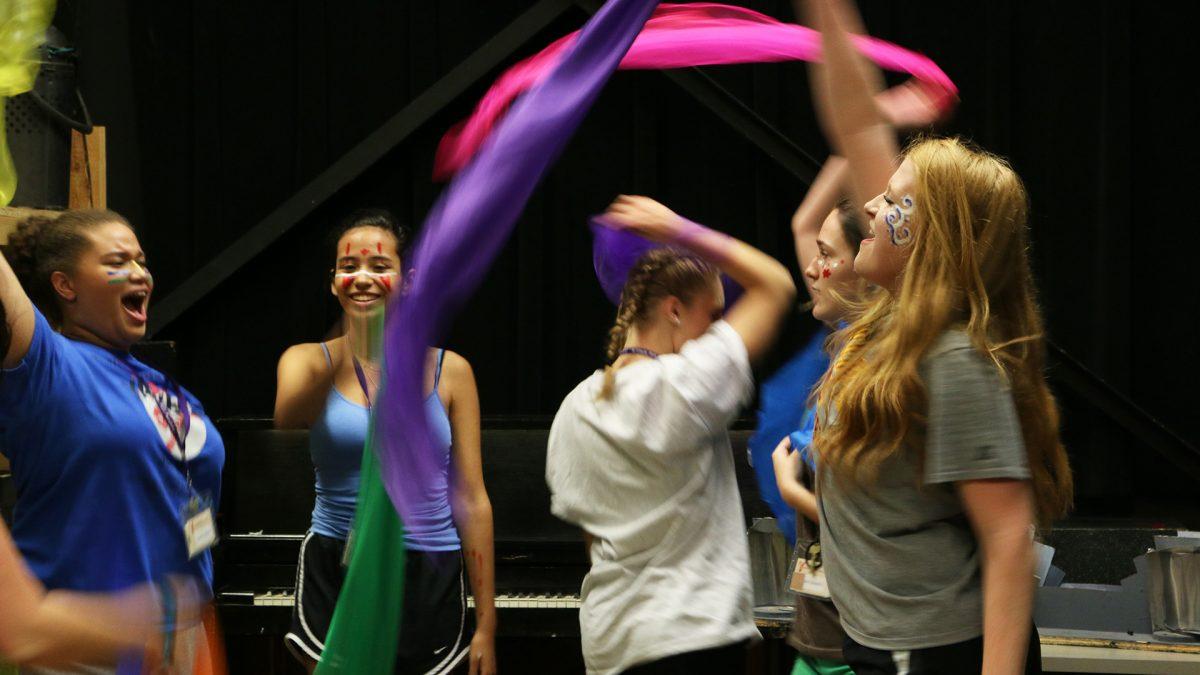 Students dance at MFAA