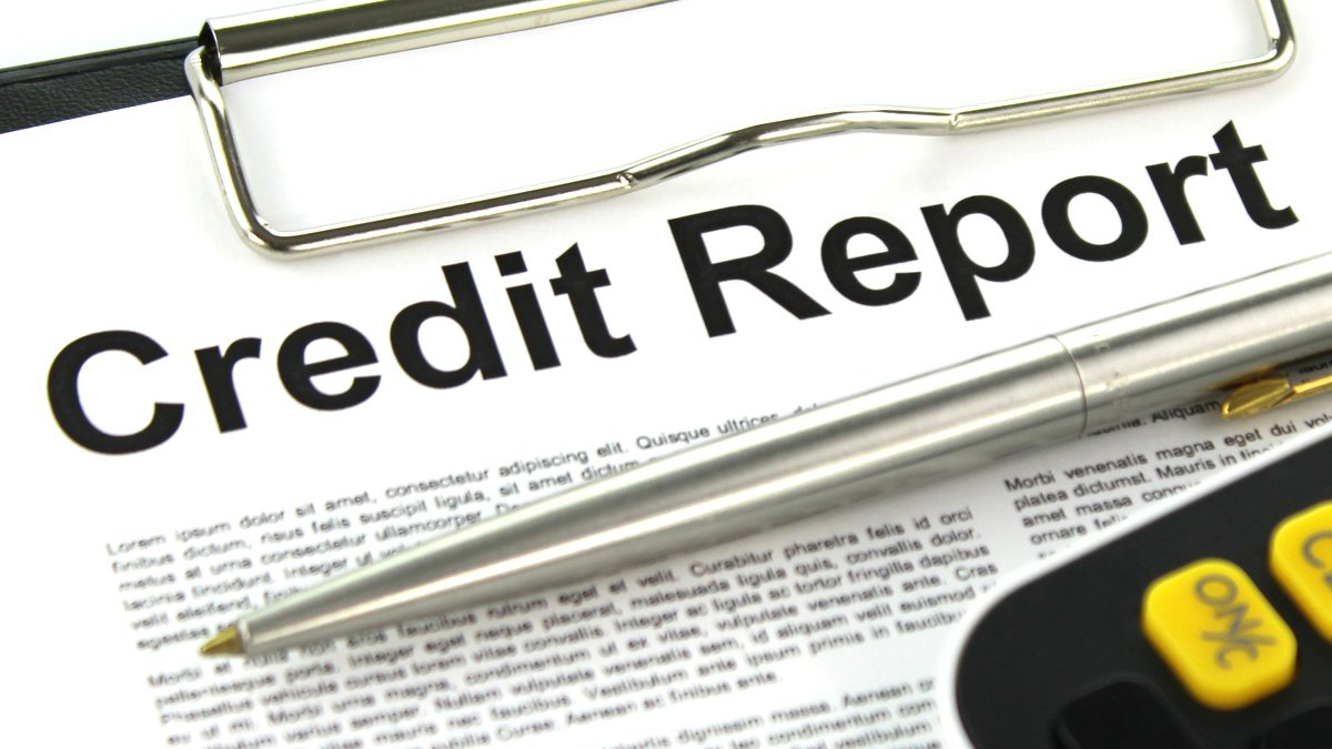 A sample credit report.
