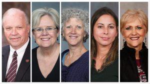 From L-R: Gib Adkins, Priscilla Childress, Abigale Ehlers, Ana Estrella-Riollano, Susan Martindale
