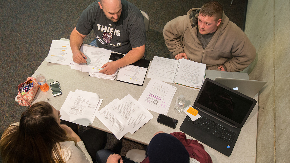 A group of students studying for final exams.
