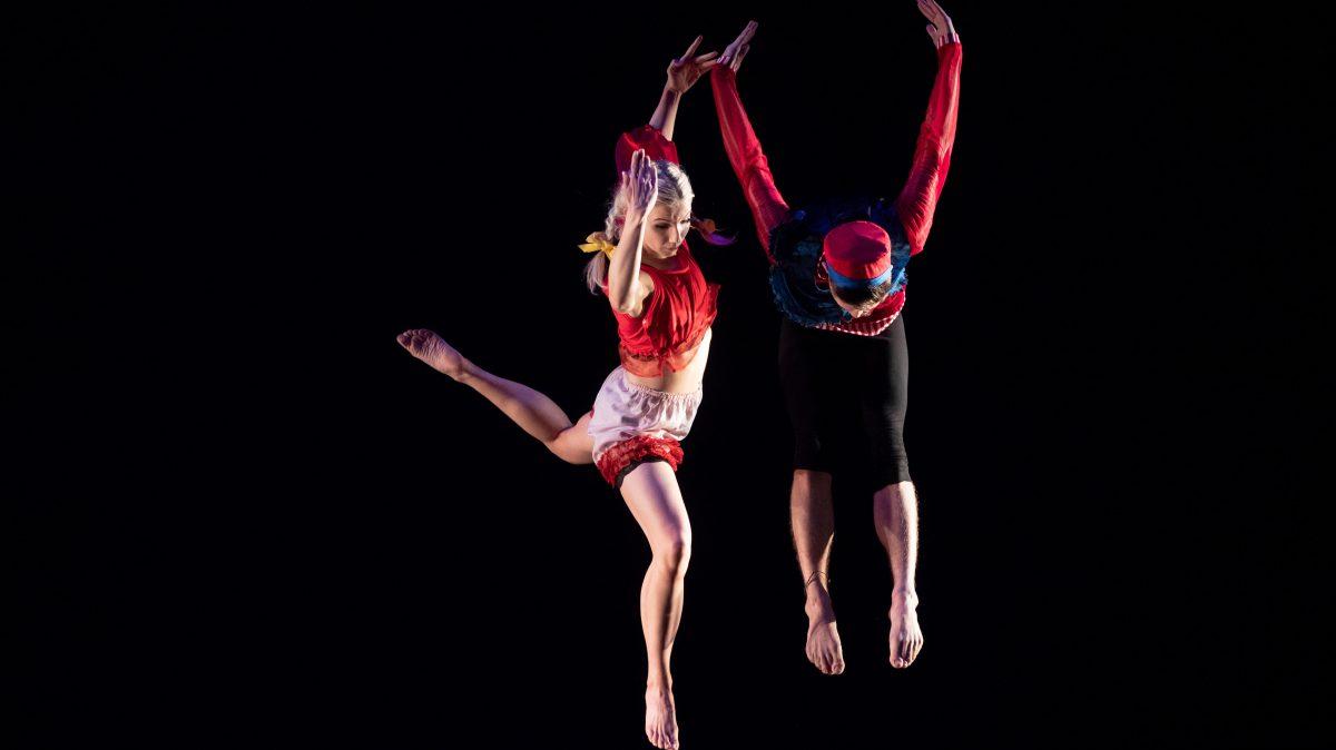 Dance students perform