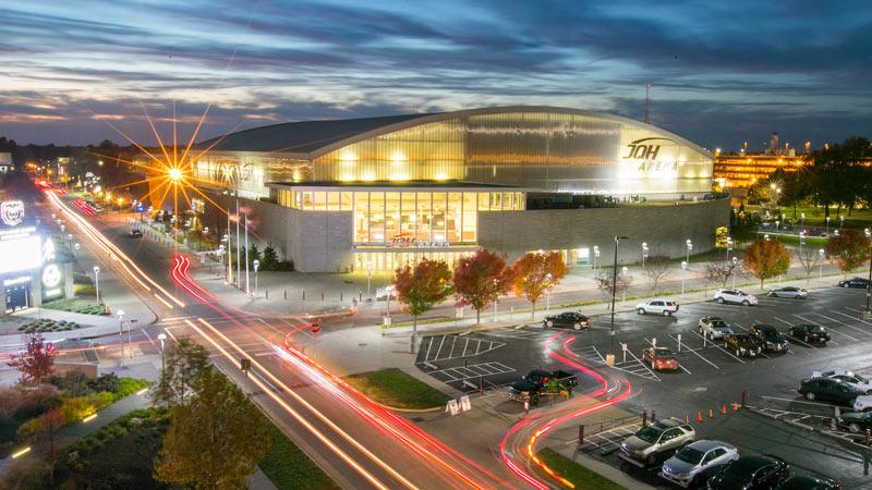 JQH Arena at night