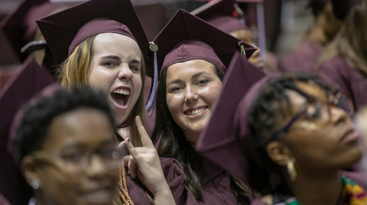 Students excited at commencement