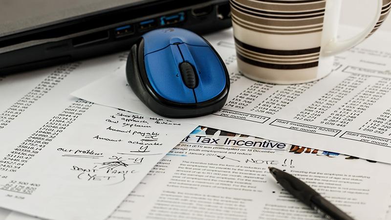 Preparing a tax return.