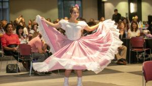 A dancer performs at the 2018 CarnavalA dancer performs at the 2018 Carnaval.