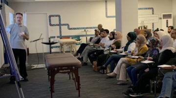 Carr teaching class in Jordan