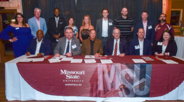 Leaders from Missouri State and Boys & Girls Clubs celebrate the partnership.