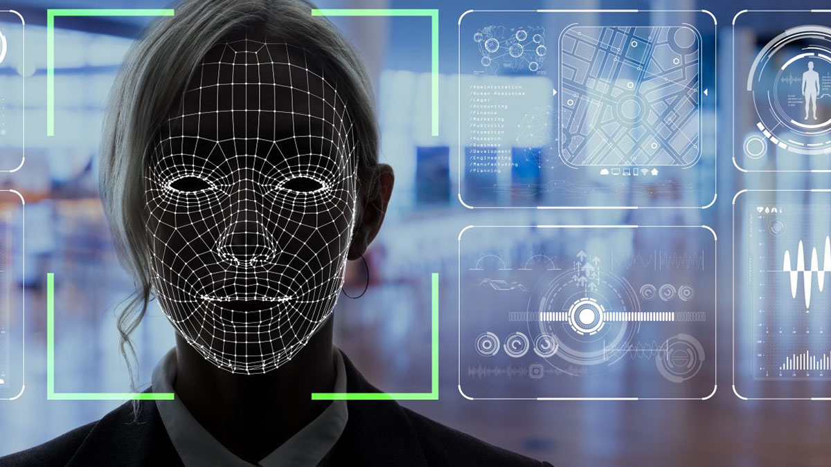 iMotions software analyzing facial features.