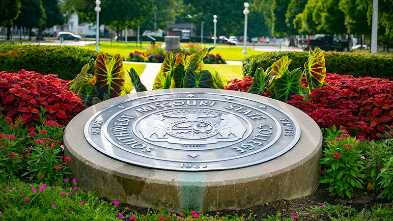 The Missouri State seal on campus.