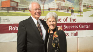 Robert and Marlese Gourley at the groundbreaking ceremony in 2015.