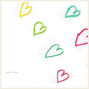 White background with heart drawings