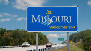 Missouri Welcome Sign.