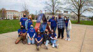 Ad Team poses on Missouri State campus.